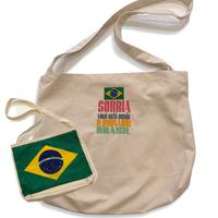 ブラジル国旗/SORRIA:コットンキャンパス地・斜め掛けショルダーバッグ