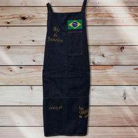 Avental/04 Rio:デニムキッチンエプロン/ユニセックス