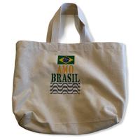 Amo Brasil 02:ブラジル国旗・コットンキャンパス地トートバッグ/Mサイズ