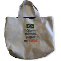 Chinelo:ブラジル国旗・コットンキャンパス地トートバッグ/Mサイズ