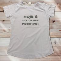 028b Hoje é dia de ser positivo!:レディースTシャツ・S~Mサイズ