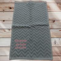 48:Obrigada, de todo coração :ジャガード織りワンポイント刺繍入りタオル:30×50