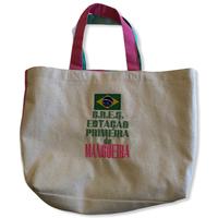 MANGUEIRA:ブラジル国旗・コットンキャンパス地トートバッグ/Mサイズ