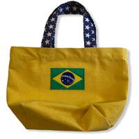 Smile:ブラジル国旗・コットンキャンパス地トートバッグ/Sサイズ