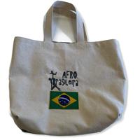 Afro brasileira:ブラジル国旗・コットンキャンパス地トートバッグ/Mサイズ
