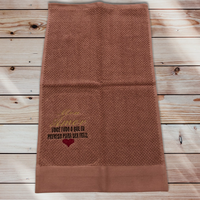 65:Meu AMOR:ジャガード織りワンポイント刺繍入りタオル:30×50