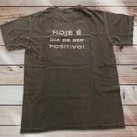 043:Hoje é dia de ser positivo!:メンズポケットコットンTシャツ・Sサイズ