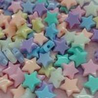 パステルカラー 星 約1.0cm 30個