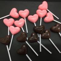 カボション ハート型チョコレートスティック