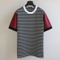 バイカラースリーブ ボーダー T-shirt V2 BW