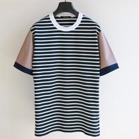 バイカラースリーブ ボーダー T-shirt V2 NW