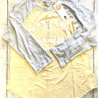 Yellow×Blue Raglan T-shirt