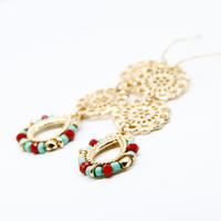Ethnic Earring / Red