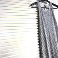 Border maxi dress