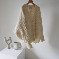 WOOL CABLE WIDE KNIT CARDIGAN