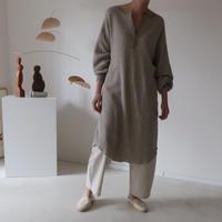 essential basic honeycomb reversible tunic long dress/cotton yak wool