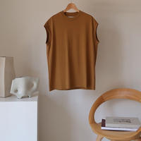 ESSENTIAL PREMIUM COTTON TANK TOP/CAMEL