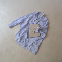 FRENCH LINEN FRAVOR WASH DEFORMED WIDE SHIRT