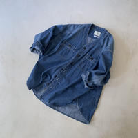 baseball denim wide shirt jacket