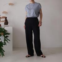 CONTINENTAL  LINEN MERROW PANTS/BLACK