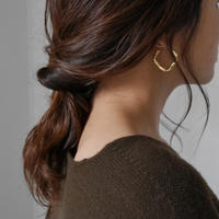 ■RESTOCK■Twist Rhombus Hoop Pierce/GOLD