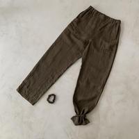 CONTINENTAL  LINEN MERROW PANTS/DARK BROWN 受注商品
