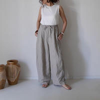 SOFT PLIABLE LINEN TWILL MOV PANTS/GRAYGE