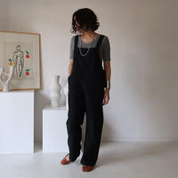 VINTAGE TWILL COTTON OVERALL/BLACK(7月末お届け)