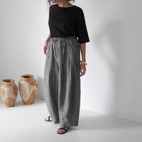 LINEN CLOTH BIO WASHABLE MOV PANTS/GLENCHECK