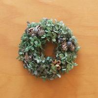 紫陽花と木の実のリース col.ブルーグリーン