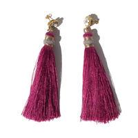 Fuchsia Pink Tassel Pierce