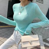 カラープルオーバー セーター