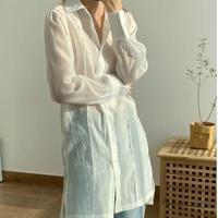 ロングカラーシースルーシャツ