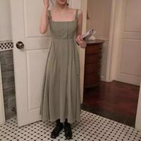 ベルトプリーツドレス