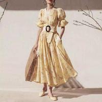 ヴィンテージウエストベルトデザインドレス
