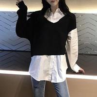 アシメオールマイティパーカーTシャツ