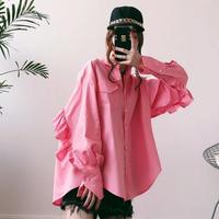 フリルオーバーシャツ