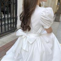パフスリーブバックリボン ドレス