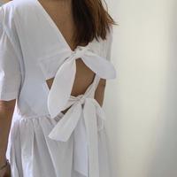 バックダブルリボンベーシックドレス