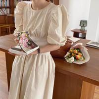 スウィートシックパフスリーブドレス