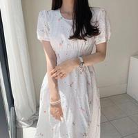 刺繍コットンレースドレス