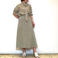 【MICA&DEAL/マイカアンドディール】リネンフレアスカート
