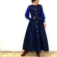 【HERENCIA/ヘレンチア】ジレ風デニムワンピース