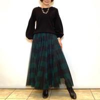 【BEATRICE/ベアトリス】ブロックチェックのチュールスカート