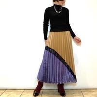 【BEATRICE/ベアトリス】サテン切り替えプリーツスカート