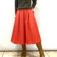 【NOUQUE/ヌーク】オレンジのフレアースカート