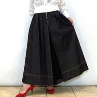 【Ritmo  Latino/リトモラティーノ】ハイウエストデニム×プリーツスカート