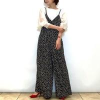 【C'EST MOIJEU/セモワージュ】白黒ドットのサロペット