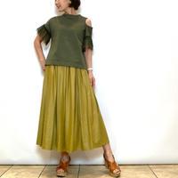 【doneeyu/ドニーユ】レザーライクのギャザースカート
