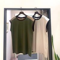 【BEATRICE/ベアトリス】オーガニックコットンの配色Tシャツ